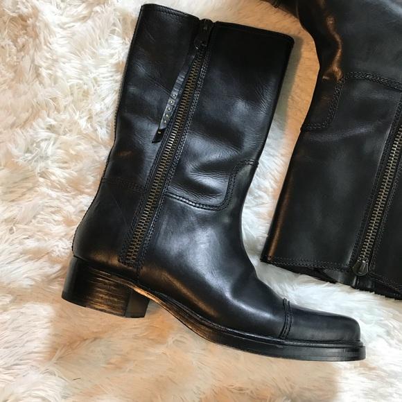 45fd9938b61 COACH Double Zip Western Boot Women's Sz 11